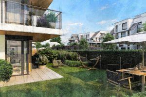 mieszkania willowe z ogrodem